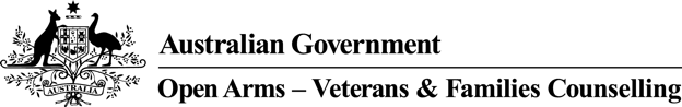 Australian Government, Open Arms - Veterans and Families Counselling